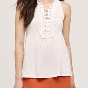 ANTHROPOLOGIE | deletta lace up sleeveless top